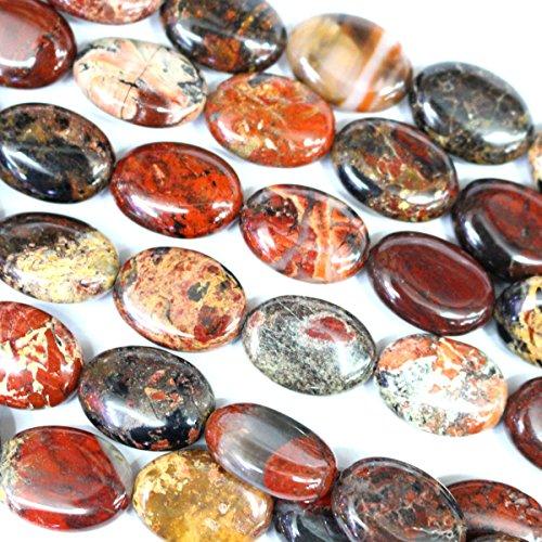 Brecciated Jasper Gemstone - Natural Brecciated Jasper Oval 1318mm Jewelry Making Gemstone Loose Beads