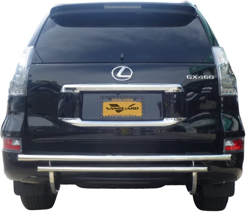FOR 03-09 TOYOTA 4RUNNER//GX BLACK COATED DOUBLE-BAR REAR BUMPER PROTECTOR GUARD