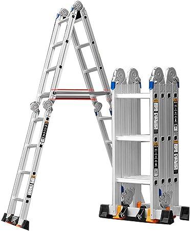 Telescopic Ladder Escalera multifunción Plegable para el hogar, Escalera de ingeniería, Escalera de aleación de Aluminio, Escalera de elevación: Amazon.es: Hogar