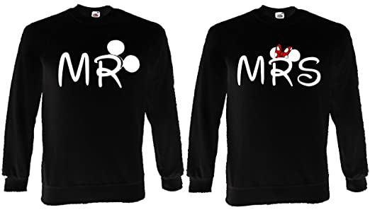 Mr  Mrs Couple Minnie Mickey Lovers Jumper Sweatshirt Sweat Top