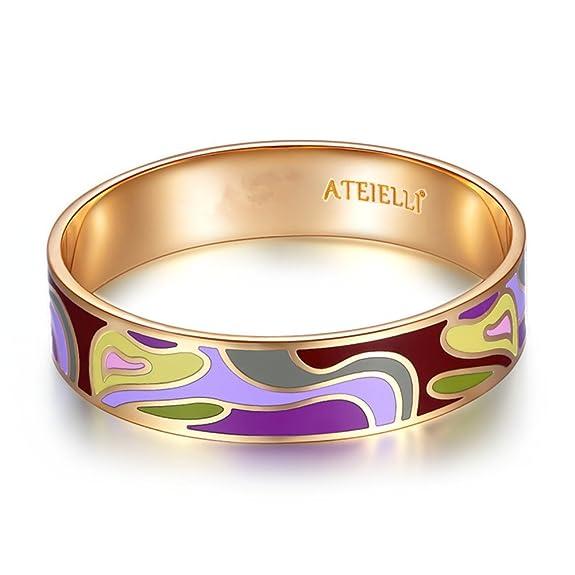 2 opinioni per ATEIELLI® Bracciale Smalto placcato in oro rosa smalto multicolori design alla