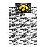 NCAA Iowa Hawkeyes Twin Sheet Set College Anthem Bedding by NCAA