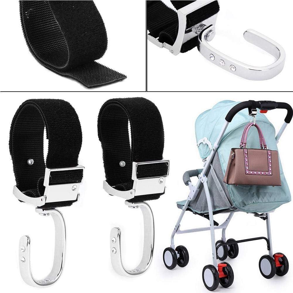 accesorios para perchas Accesorios para portadores Ganchos duraderos para cochecito para colgar bolsas de pa/ñales Edici/ón Limitada Dorada Gancho de silla de paseo giratorio de 360 grados