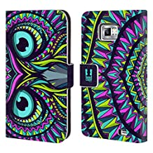 Head Case Designs Owl Aztec Animal Faces Leather Book Wallet Case Cover For Samsung Galaxy S5 Active