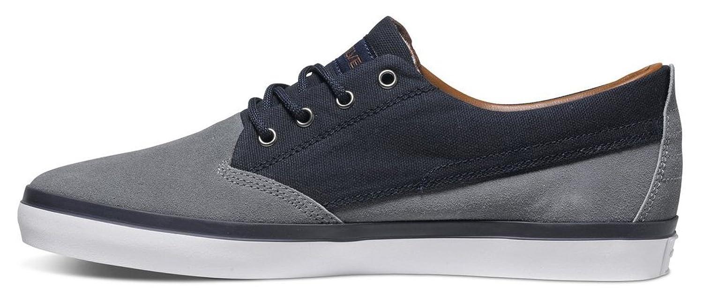 Quiksilver Herren Beacon Suede Lace up Shoes Low Top Blau Blue/Blue/White Xbbw