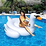 Inflatable Leisure Giant Swan Float Toy Rideable Raft Summer Lake Swimming Pool