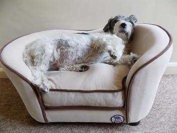 Millies - Cama para perro, gato, sofá de mascota, lujoso y cómodo para su mascota, color crema: Amazon.es: Productos para mascotas