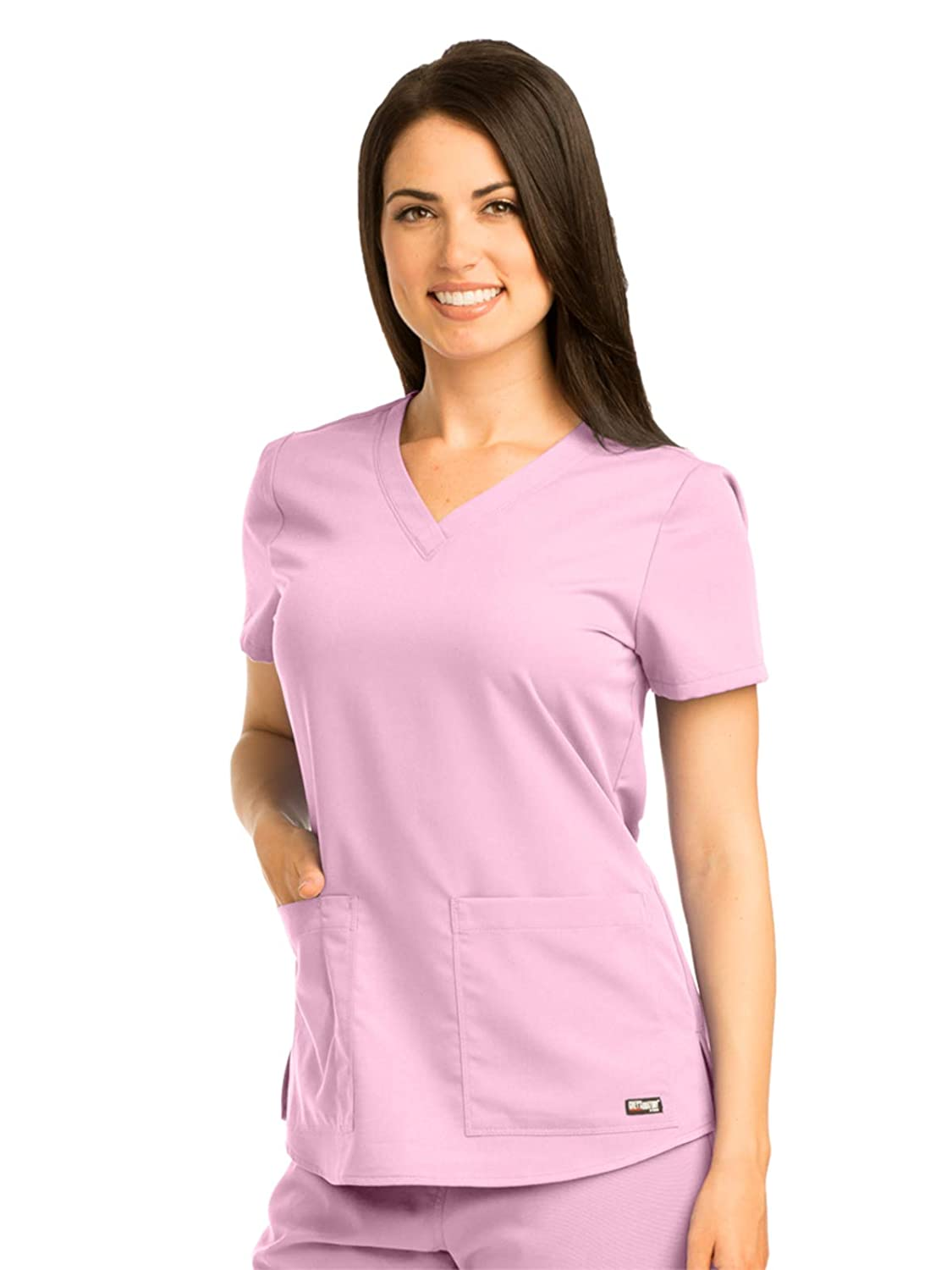 Barco Grey's Anatomy Women's 71166 Two Pocket V Neck Scrub Top With Shirring Back