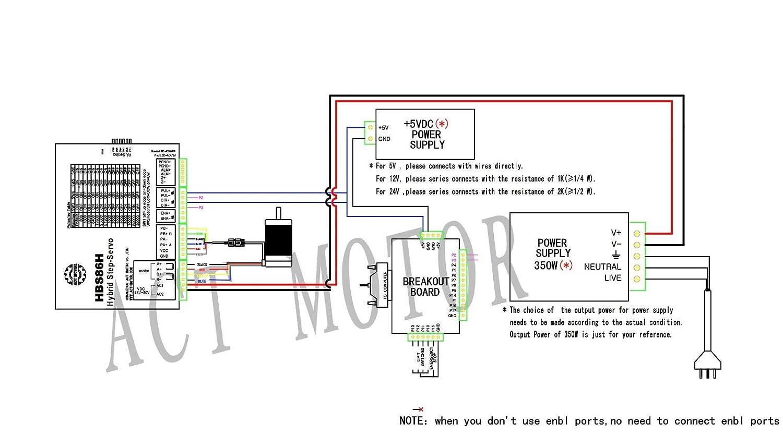 ACT MOTOR GmbH Nema34 1PC Closed Loop Motor 34SSM8460-EC1000 101mm 6A 5Nm Keywey-Shaft /Ø 14mm CNC OEM