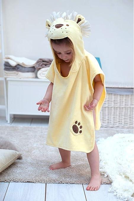 Baño conejo niños León toalla Poncho para niños y niñas 1 – 3 años de edad