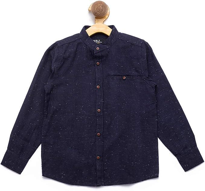 nick&jess Camisa Estampada de algodón de Ajuste Regular para niños de 3 a 12 años: Amazon.es: Ropa y accesorios