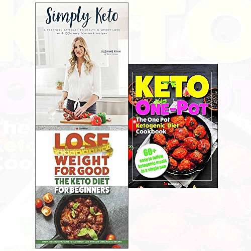 One pot ketogenic, keto diet and simply 3 books collection set