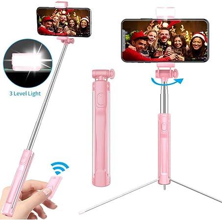 Monland Tragbarer Integrierter Stativ Selfie Stick Video Live Selfie Stick Telefon St?Nder f/ür IOS Android Handy