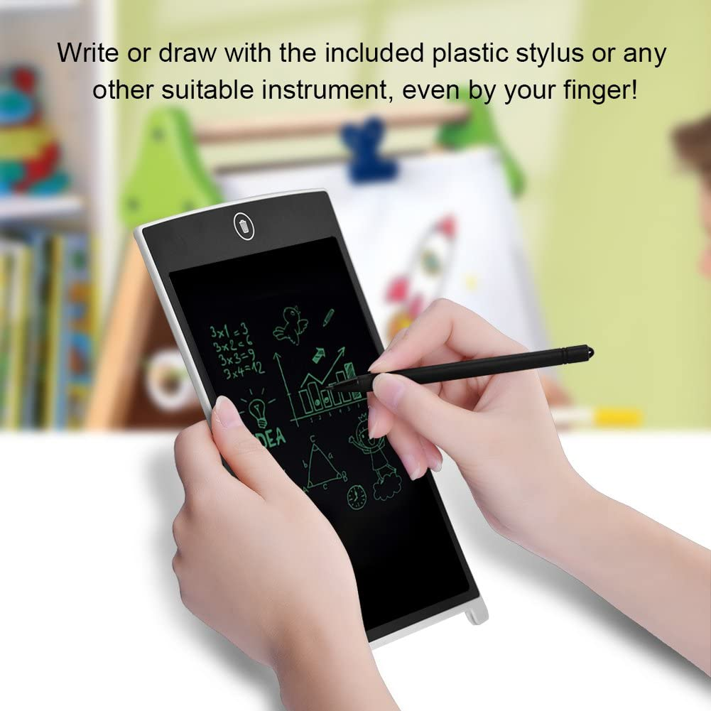 Richer-R 8.5 Inch LCD Writing Tablet Electronic Writing Board Digital Drawing Board Graphic Drawing Tablet Durable for Home Office Use with Stylus black