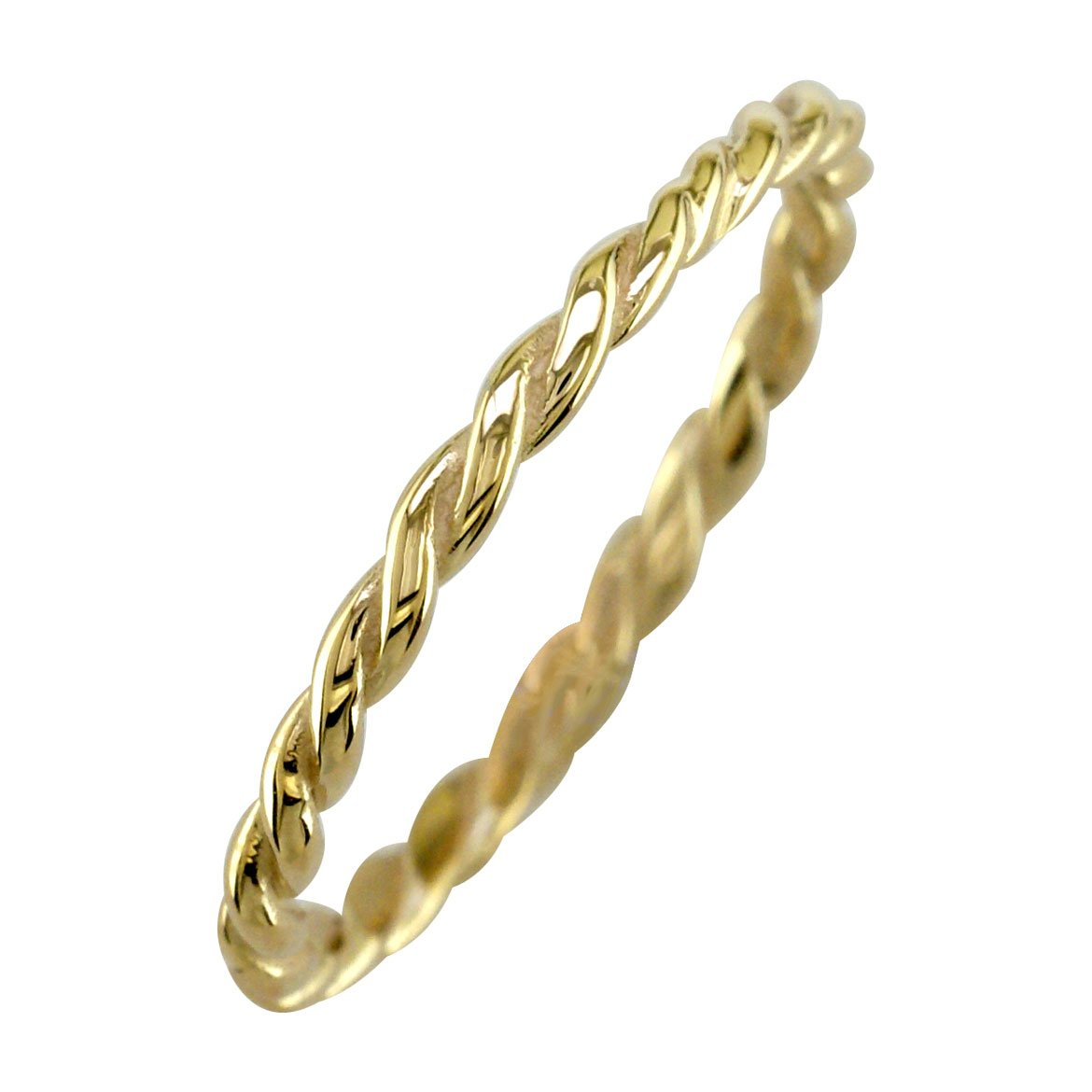 Stackable Rope Ring, 1.8mm in 14k Yellow Gold - size 5