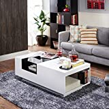 Furniture of America Enitial Lab Dekker Modern Coffee Table, White