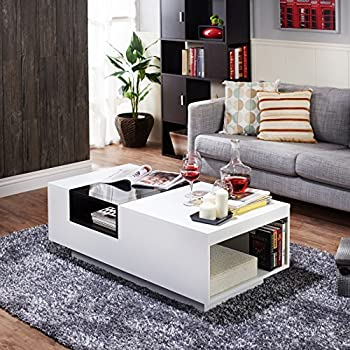 IoHOMES Dekker Modern Coffee Table, White
