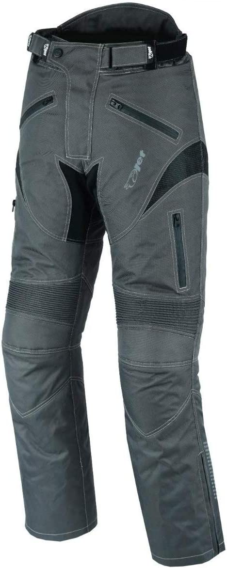 W42 L30, Grey JET Mens Motorcycle Motorbike Textile CE Armoured Waterproof Trousers Pants Protective DYNAMO