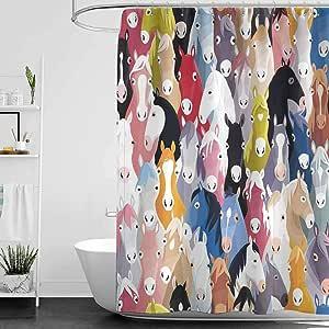 Cortinas de ducha HjkDecor, color coral, decoración de 13 ...