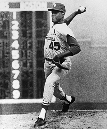 (Bob Gibson (1935- ) Namerican Baseball Pitcher Pitching The St Louis Cardinals To Victory Over The Boston Red Sox In The Seventh And Deciding Game Of The 1967 World Series At Fenway Park Boston Massac)