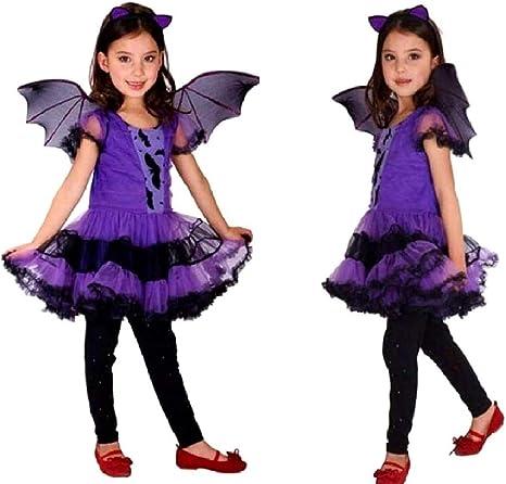 Disfraz de niña vampiro carnaval vampiro murciélago vampiro talla ...