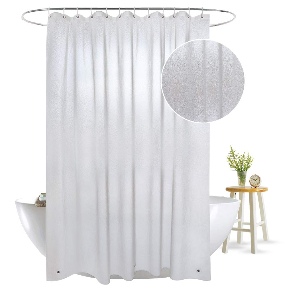 aoohome 36 x 72 inch stall size shower curtain liner eva shower curtain frosted ebay. Black Bedroom Furniture Sets. Home Design Ideas