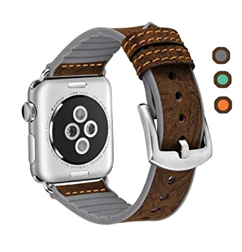 erwubala para Apple Watch Band 38 mm/42 mm, iWatch banda piel auténtica y