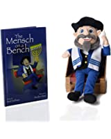 The Mensch on a Bench Hanukkah Decor with Hardcover Book and Removable Bench