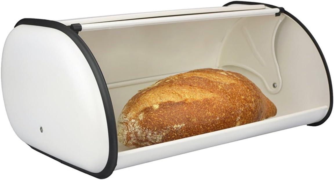 pain de stockage de support de pain Huche /à pain 34/x 23/x 14,5/cm Bo/îte /à pain en acier inoxydable pour cuisine