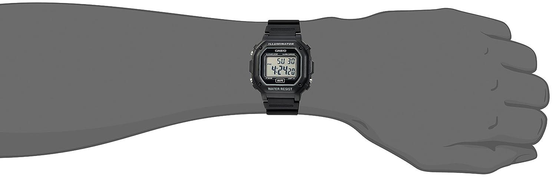 Casio Mens F108WH Illuminator Collection Black Resin Strap Digital Watch