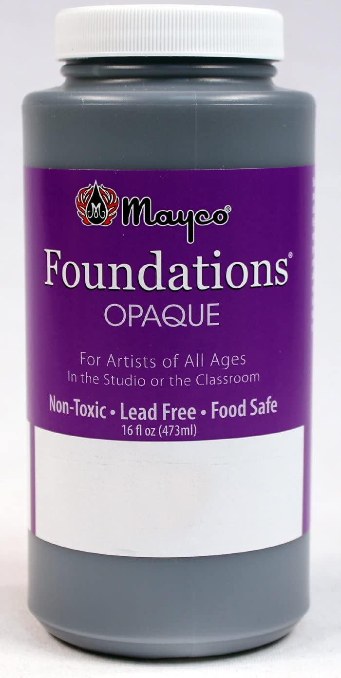 Black 16 Ounce Pint Bottle by Mayco Foundations Opaque Ceramic Glaze FN 009-P