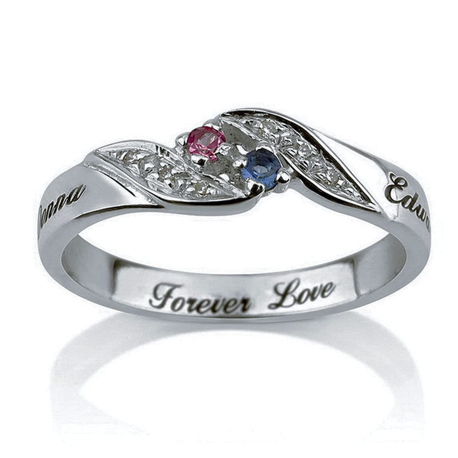 Amazon.com: Personalized Engraved Promise Ring Engagement Promise ...
