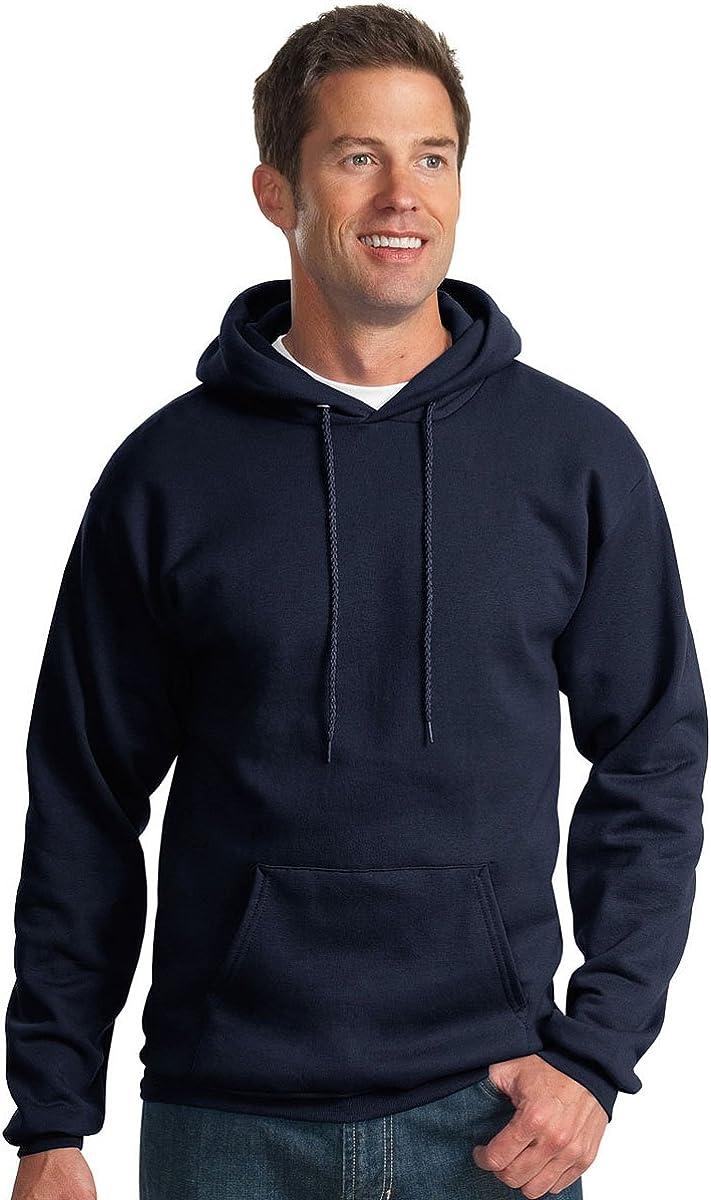 Port /& Company Mens Hooded Fleece Sweatshirt,Small,Navy