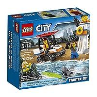 LEGO City Coast Guard Juego de inicio de guardacostas 60163 Kit de construcción (76 piezas)