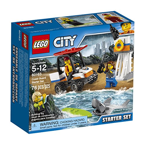 LEGO City Coast Guard Coast Guard Starter Set 60163 Building Kit (76 (Lifeguard Roll)