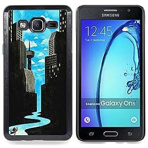 """Planetar ( Patrón del brillo del oro Puerta Espumoso"""" ) Samsung Galaxy On5 O5 Fundas Cover Cubre Hard Case Cover"""