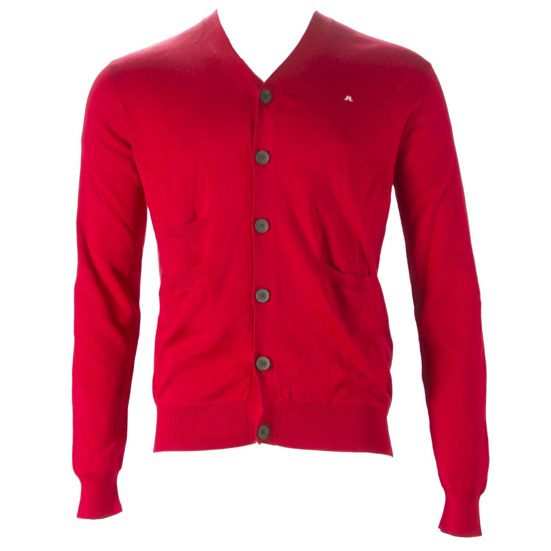 Red XX-Large J LINDEBERG Mens Cardigan Sweater
