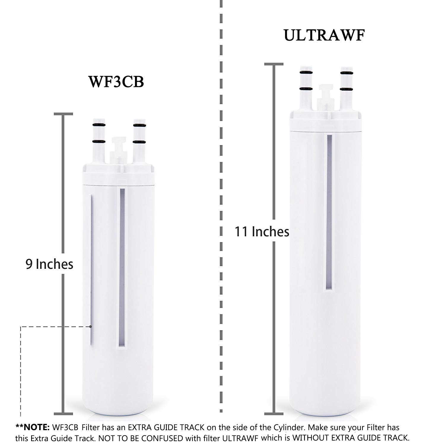 Mountain Flows ULТRAWF Compatible Refrigerator Water Filter Replacement Pure Source Ultra 2pack