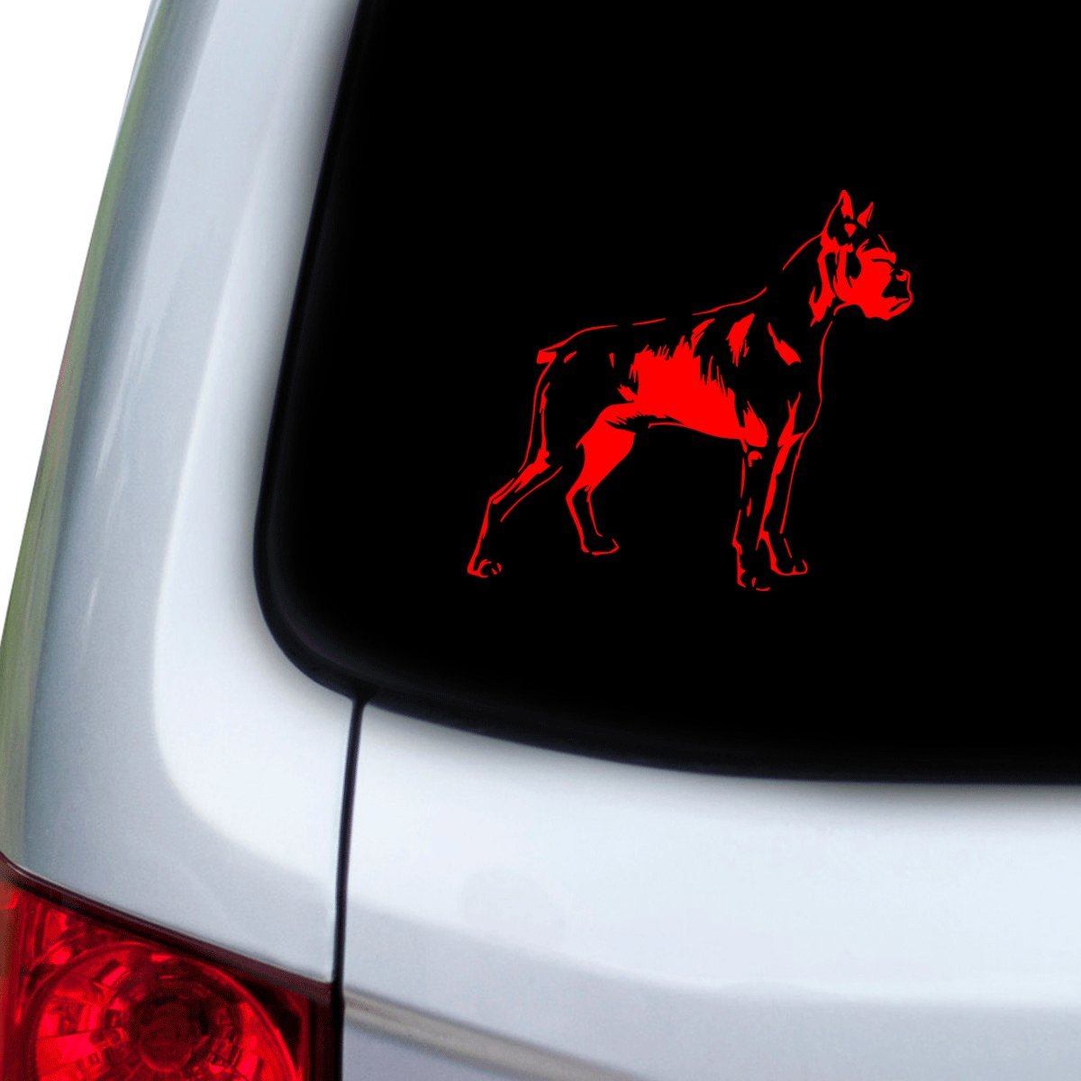 Red Doors StickAny Car and Auto Decal Series Boxer Sticker for Windows Hoods