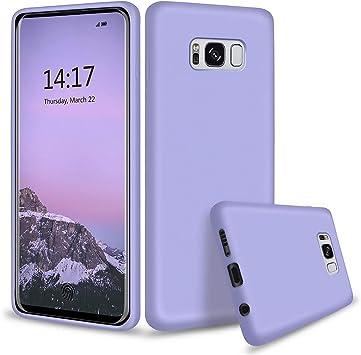 TXLING Funda para Samsung Galaxy S8 Plus Original Slim Líquido [Anti-Arañazos]de Silicona Gel [Anti-Arañazos] Carcasa Calidad Huellas Dactilares Totalmente Protectora Caso Cover Case Púrpura: Amazon.es: Electrónica