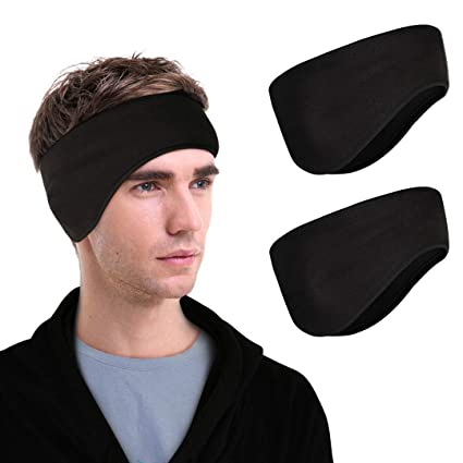 Amazon.com   Netursho Fleece Ear Warmers Headband for Men Women (2 ... 7a6273bf9ab