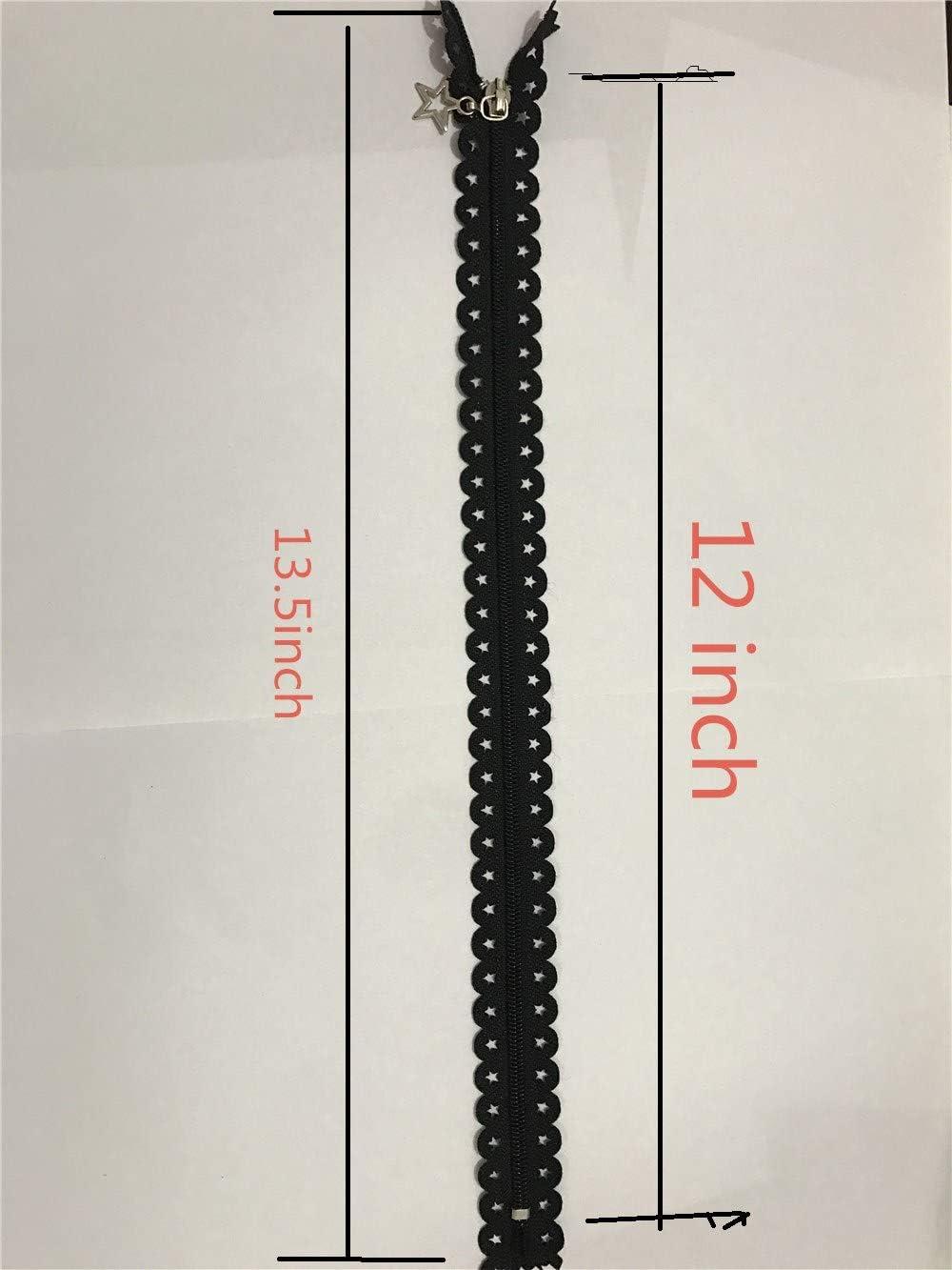 Cerniere su nastro in nylon sartoria sacchi a pelo per fai da te cucito a forma di stella WKXFJJWZC 30,5 cm