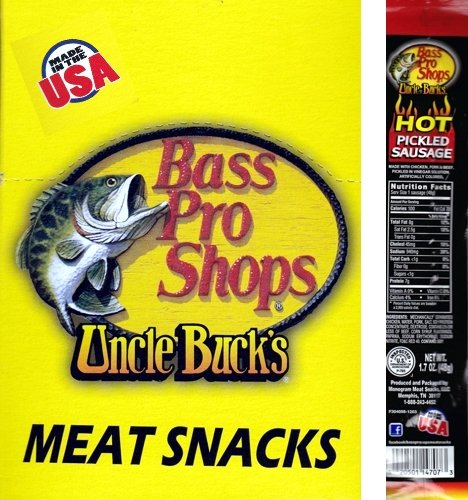 14 Uncle Buck's - Hot Pickled Sausage 1.7 oz (Bass Pro Shops - Made in the - Memphis Shop Bass