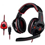 KLIM Mantis - Gaming Headphones - USB Headset with Microphone - for PC, PS4, Nintendo Switch, Mac, 7.1 Surround Sound…
