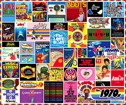 Re-marks 1970s 1500 Piece Jigsaw Puzzle - Pop Culture Image Collage