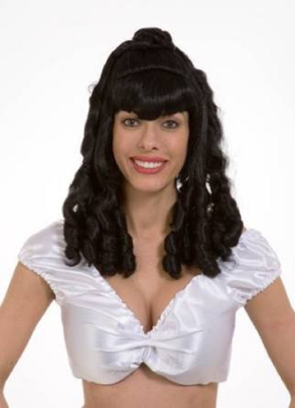 Adult Queen Of Hearts Long Curly Black Wig