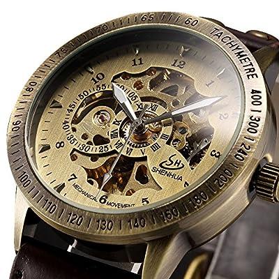 ALPS Men's Classic Luxury Skeleton Self-Winding Automatic Mechanical Watch