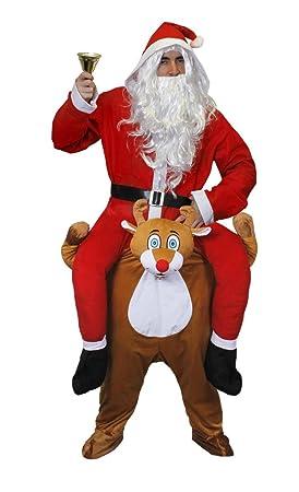 ILOVEFANCYDRESS - Disfraz de elfo sentado sobre reno para adulto ...