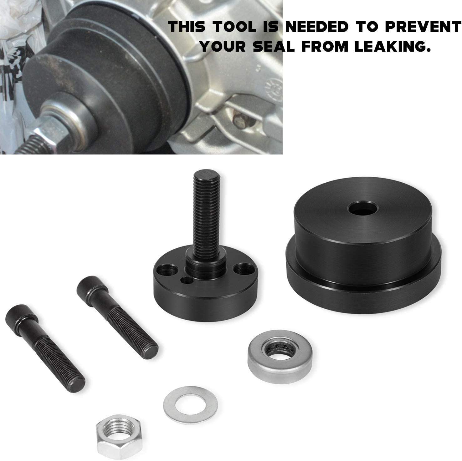 Rear Main Seal Installer Tool Fit for Ford 4.5L 6.0L Similar to 303-770 6.4L Powerstroke Rear Crankshaft Seal /& Wear Ring Installer