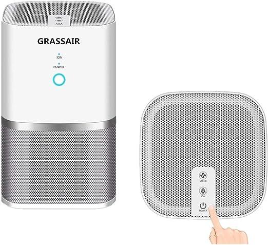 GRASSAIR Purificador De Aire Ionizador Filtro True HEPA, Alergias ...
